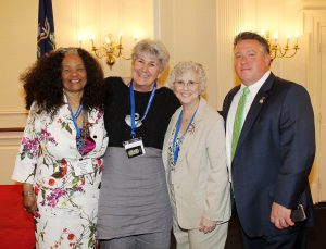Janet Dudding with other members of National Federation of Democratic Women